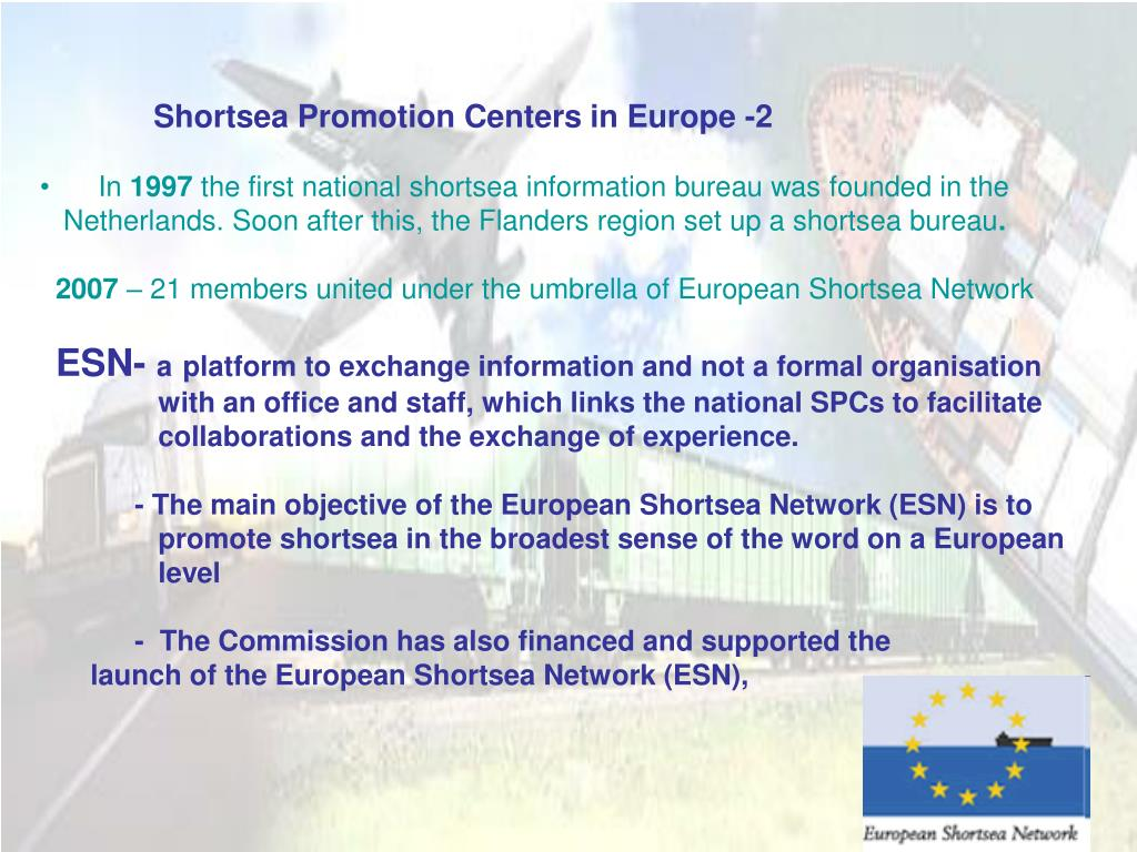 Shortsea Promotion Centers in Europe -2