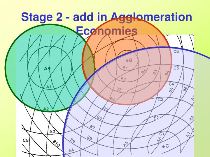 Stage 2 - add in Agglomeration Economies