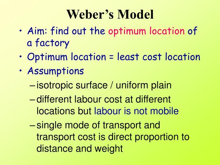 Weber s model1