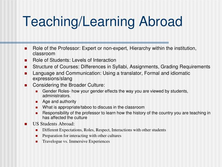 Teaching/Learning Abroad
