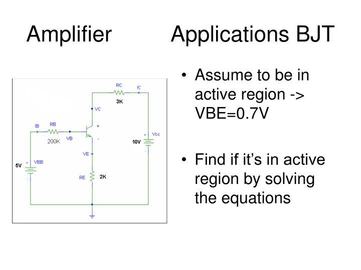 AmplifierApplications BJT