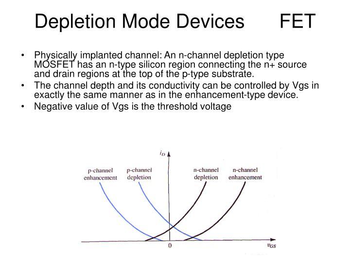 Depletion Mode Devices FET