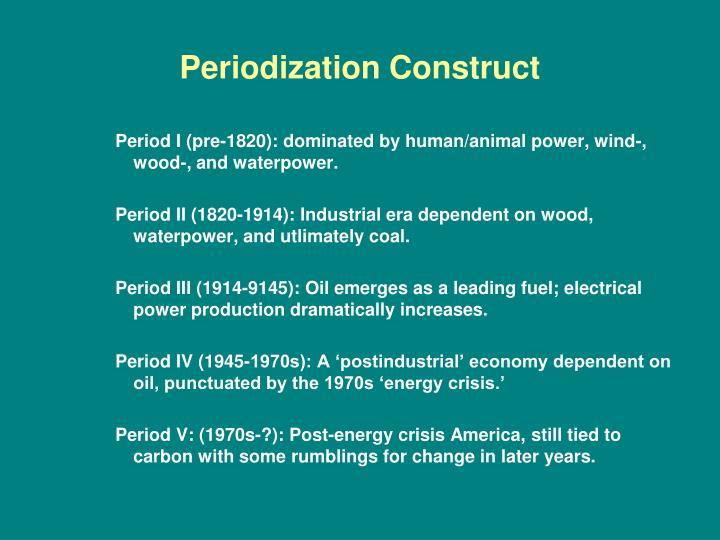 Periodization Construct