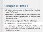 changes in prices ii