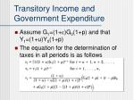 transitory income and government expenditure