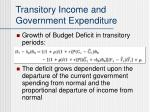 transitory income and government expenditure14