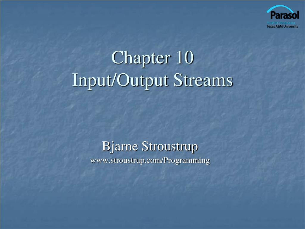 chapter 10 input output streams l.