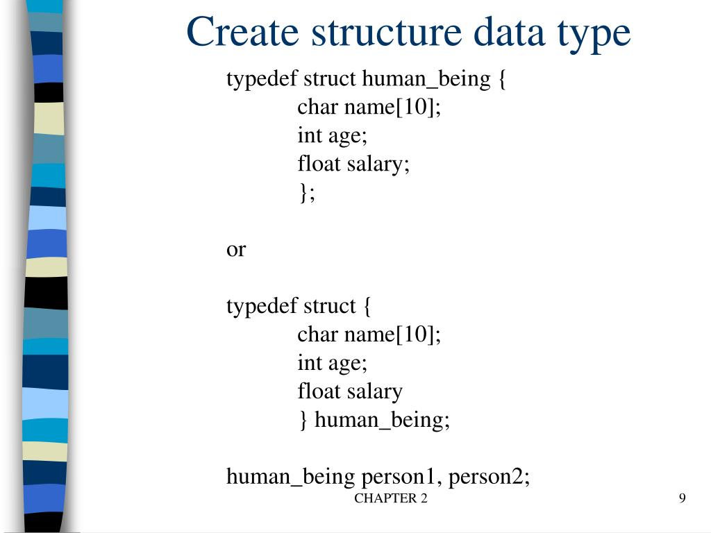 Create structure data type
