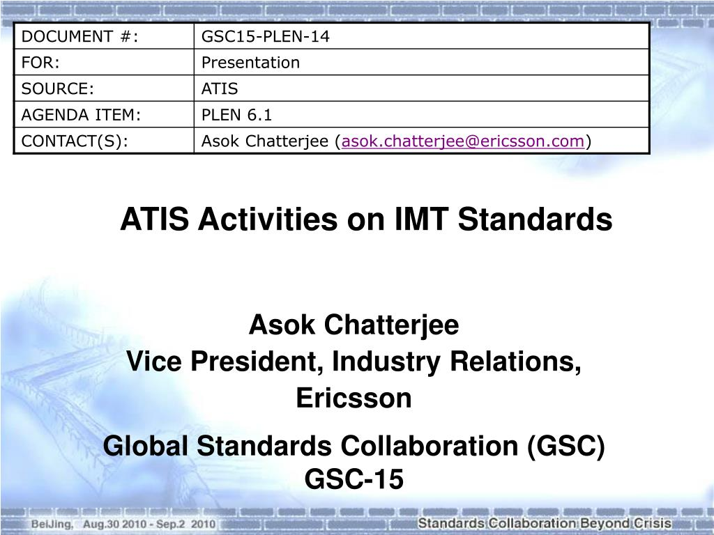 ATIS Activities on IMT Standards