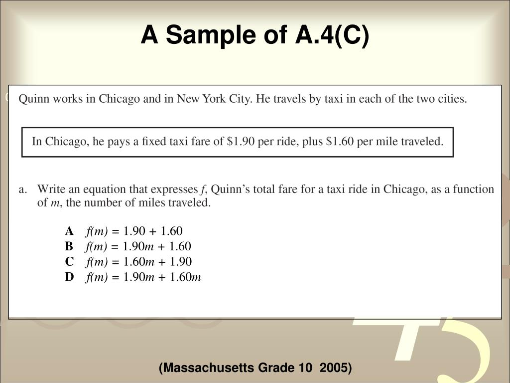 A Sample of A.4(C)