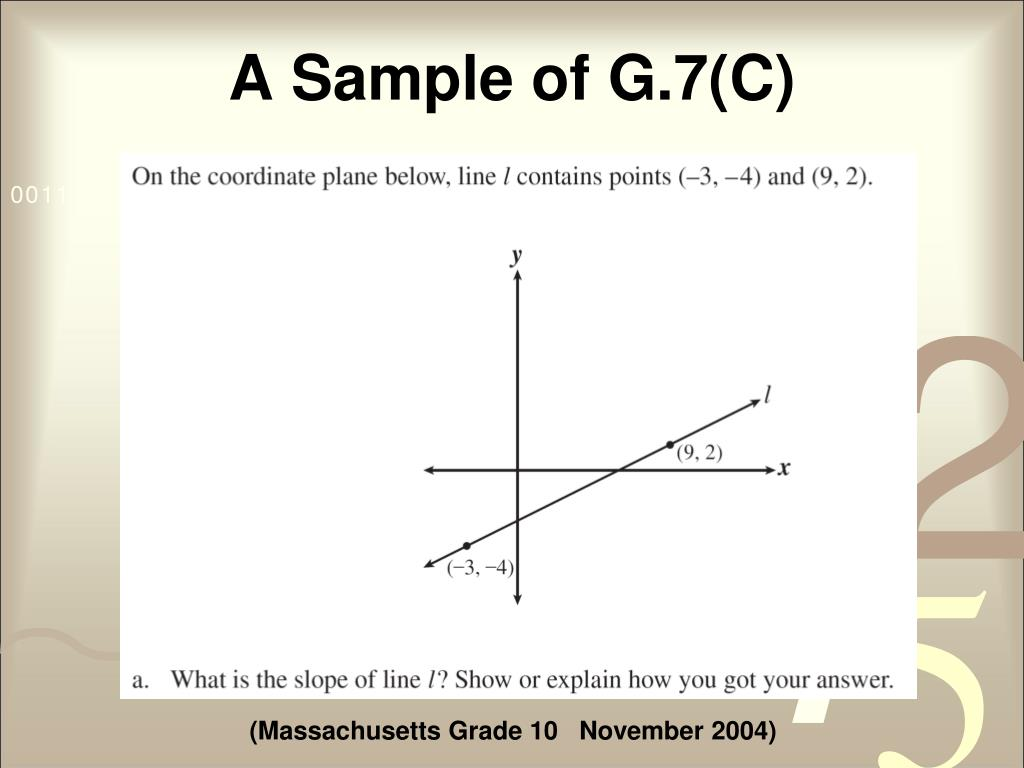 A Sample of G.7(C)