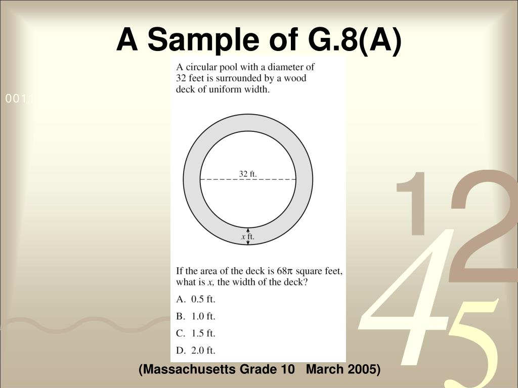 A Sample of G.8(A)