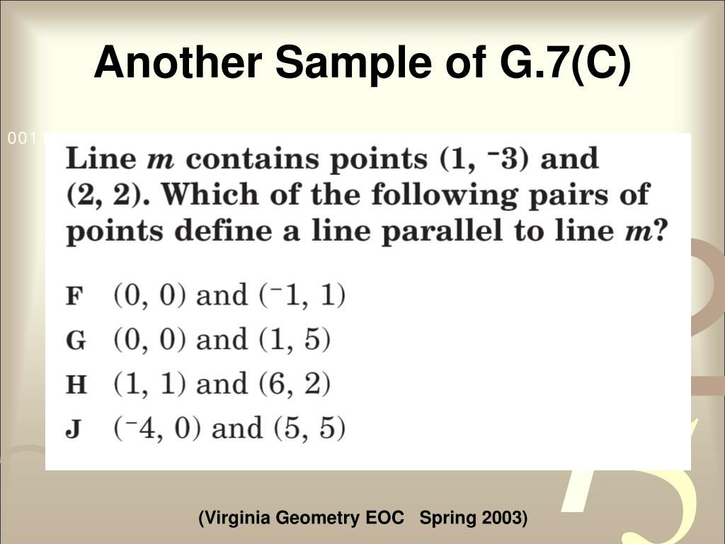 Another Sample of G.7(C)