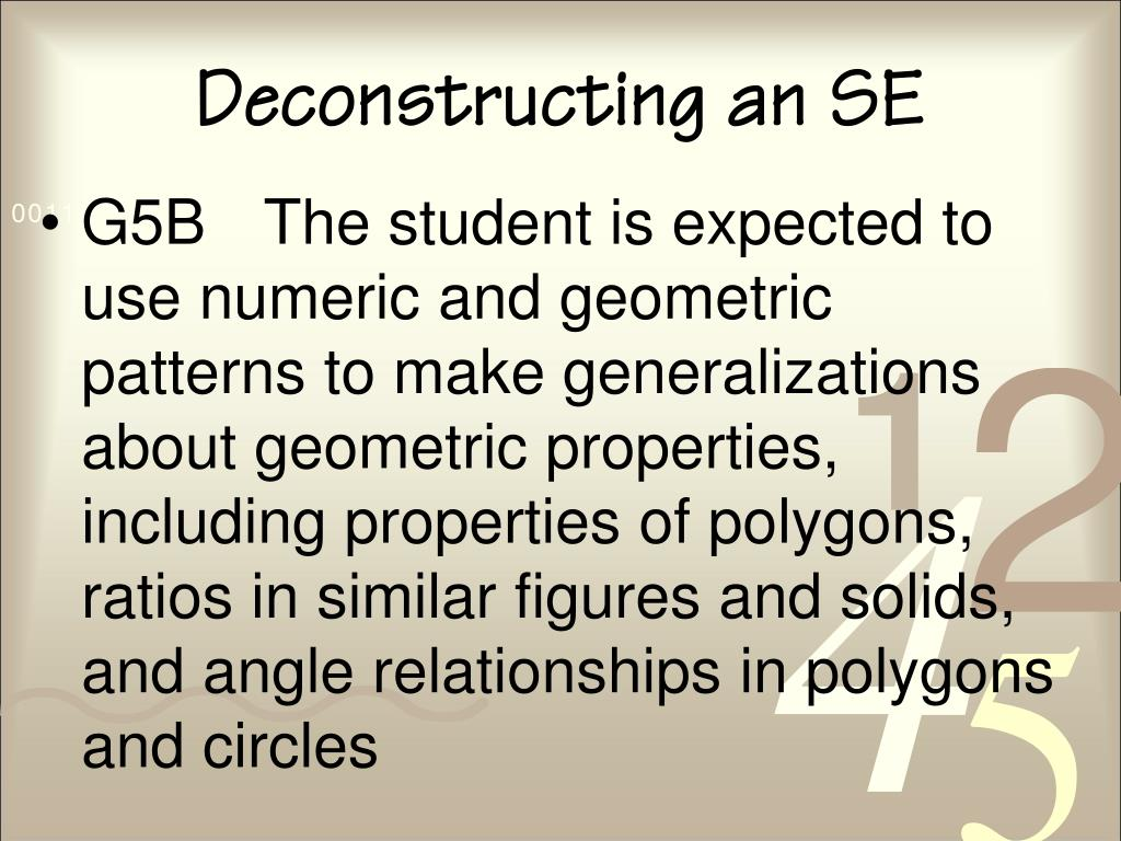 Deconstructing an SE