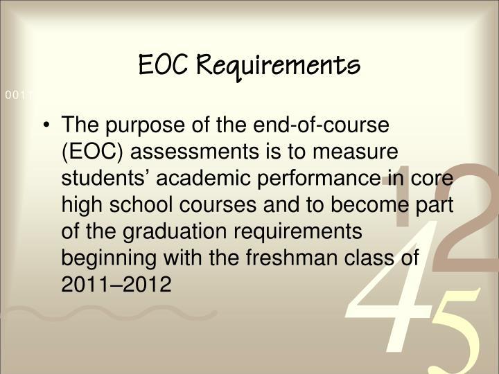 Eoc requirements