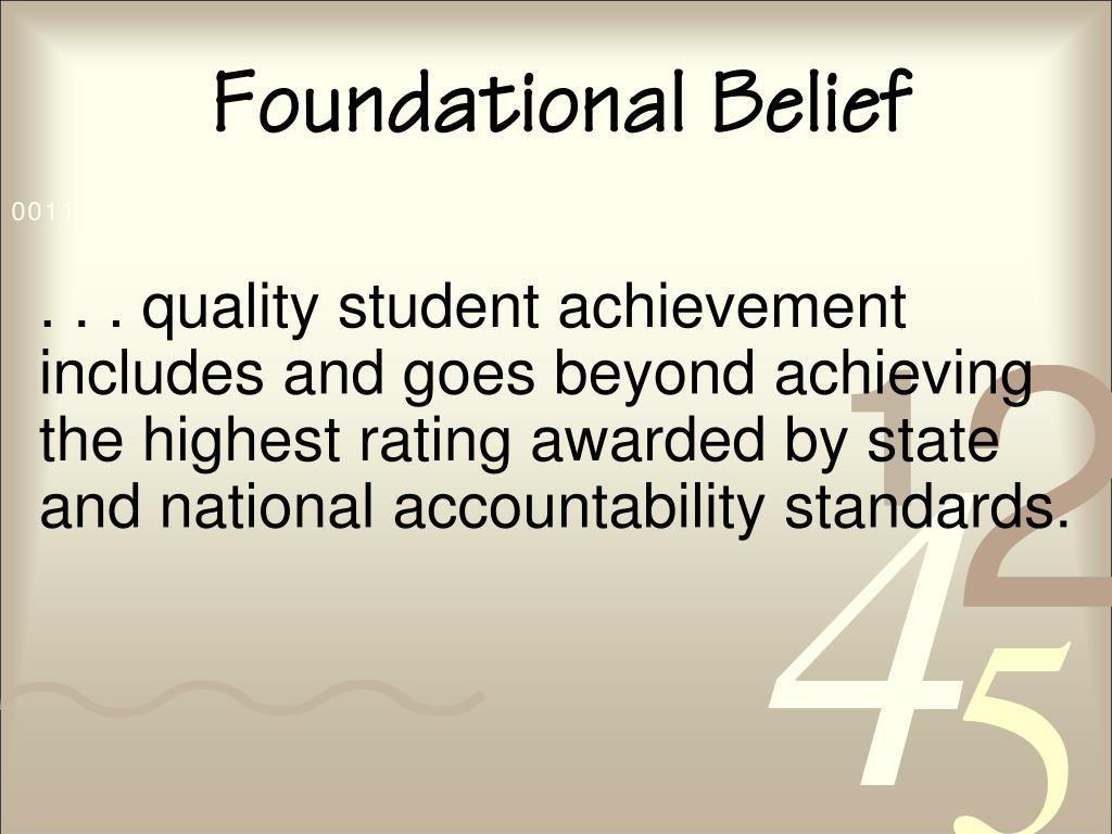 Foundational Belief