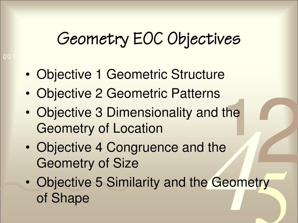Geometry EOC Objectives