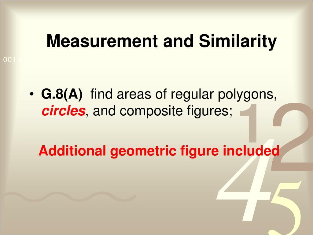 Measurement and Similarity