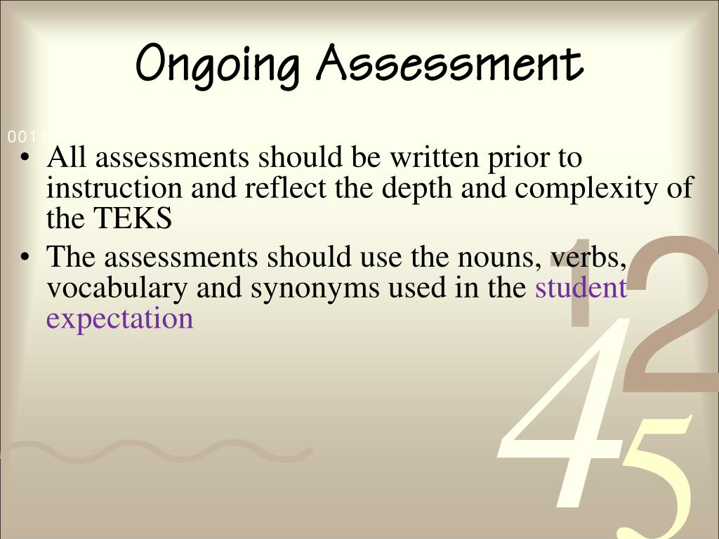 Ongoing Assessment