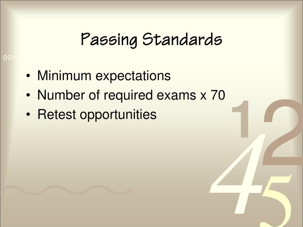 Passing Standards