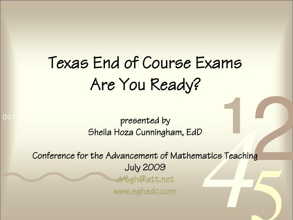 Texas End of Course Exams