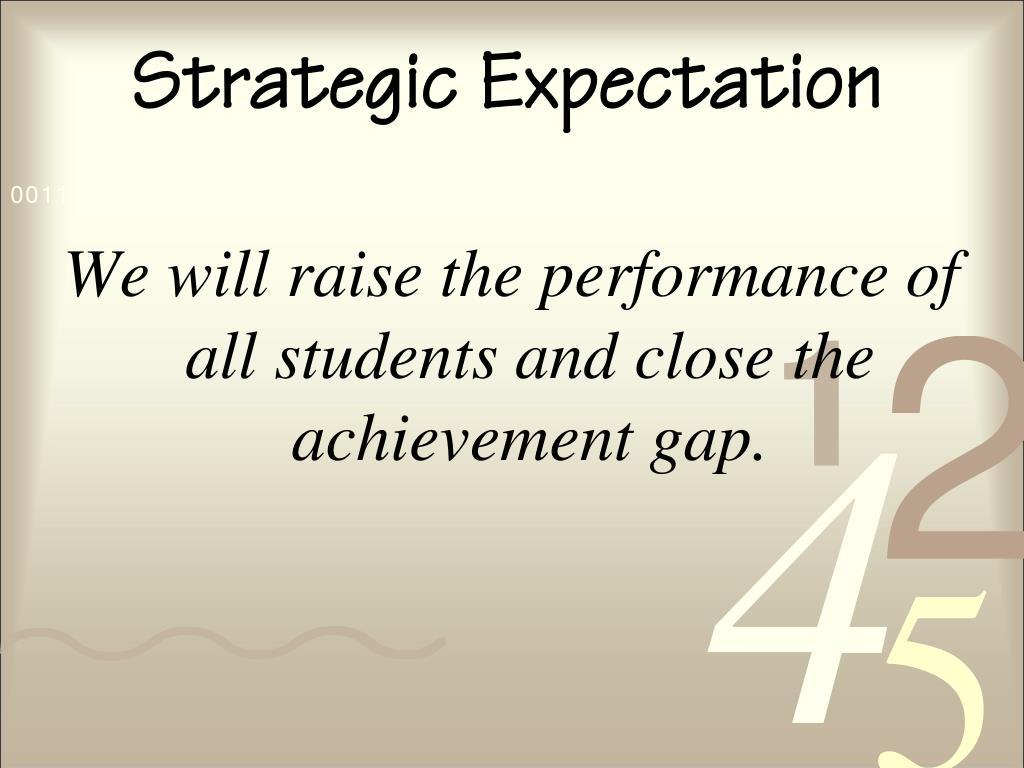 Strategic Expectation