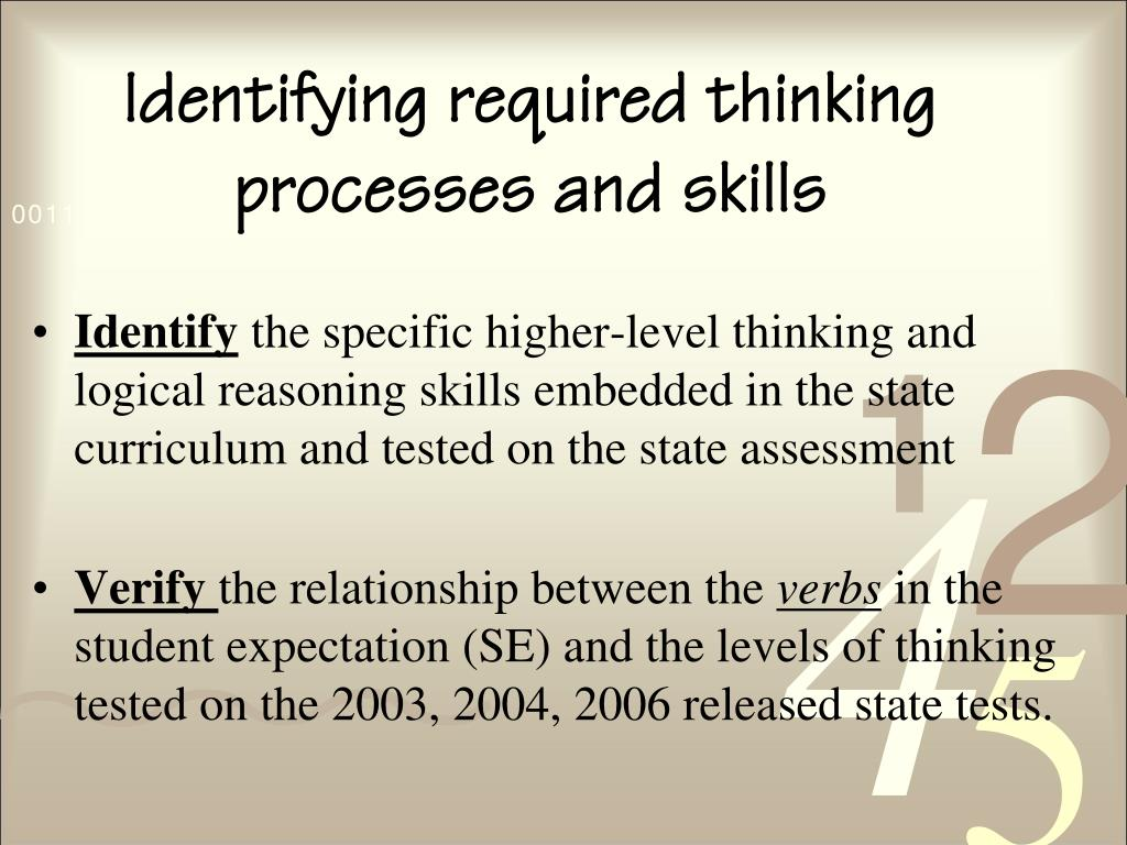 Identifying required thinking