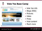 vote yes base camp