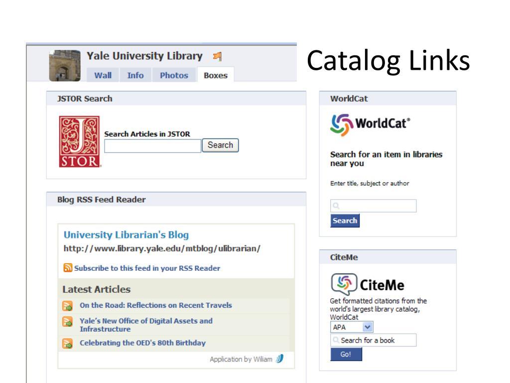 Catalog Links