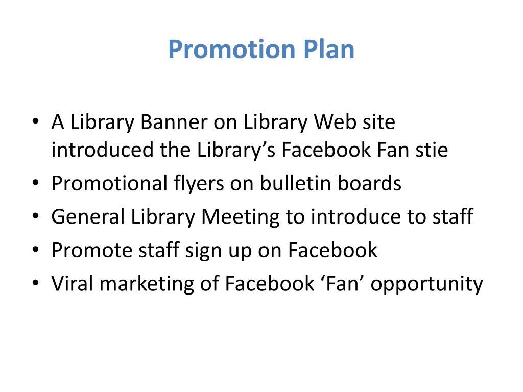 Promotion Plan