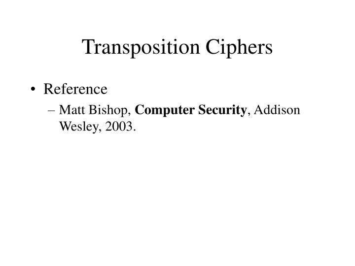 transposition ciphers n.