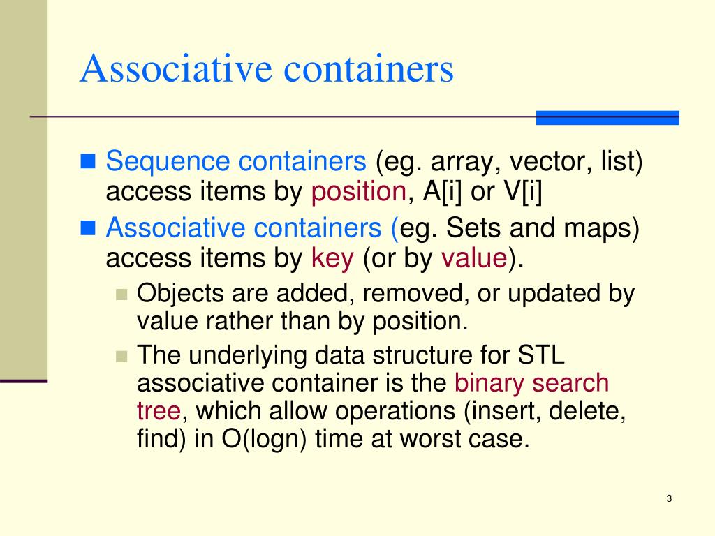 Associative containers