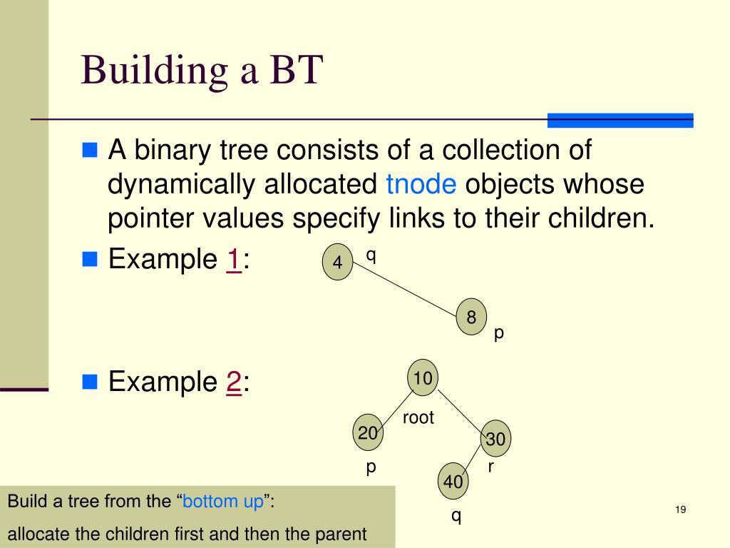Building a BT