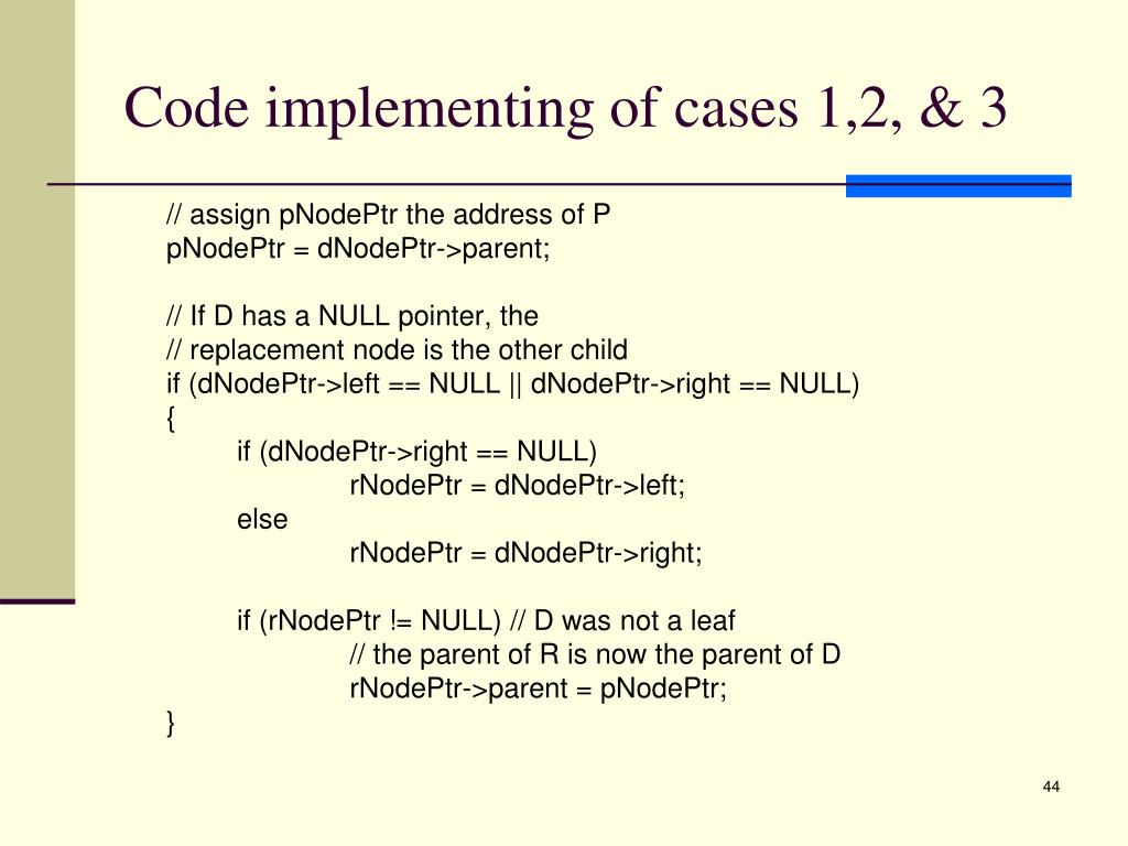 Code implementing of cases 1,2, & 3