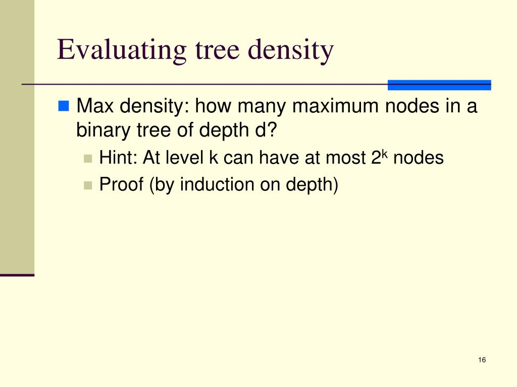 Evaluating tree density