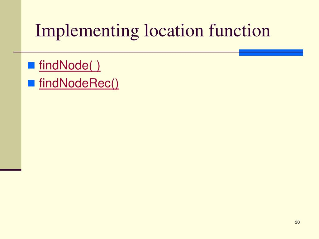Implementing location function