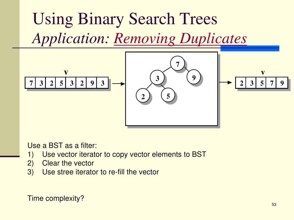 Using Binary Search Trees