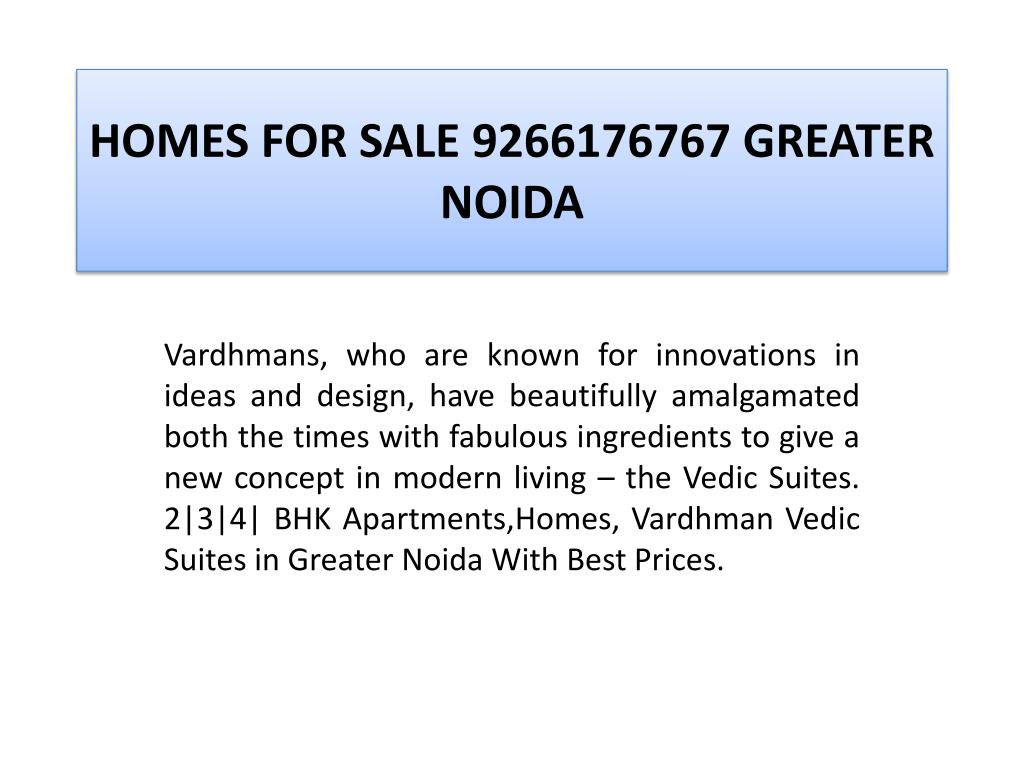 HOMES FOR SALE 9266176767 GREATER NOIDA
