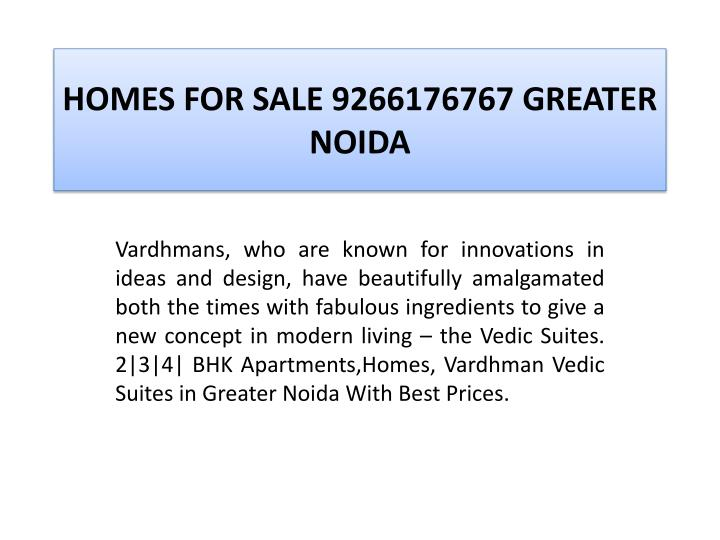 Homes for sale 9266176767 greater noida2