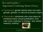 sex and gender important confusing terms cont2