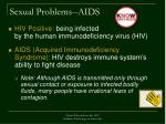 sexual problems aids