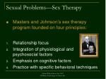sexual problems sex therapy