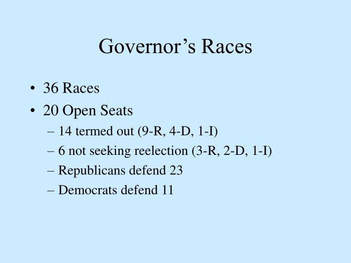 Governor's Races