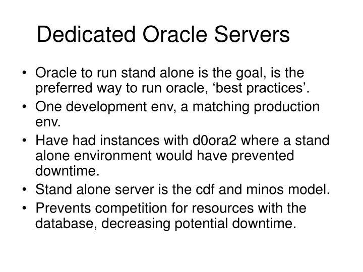 Dedicated Oracle Servers