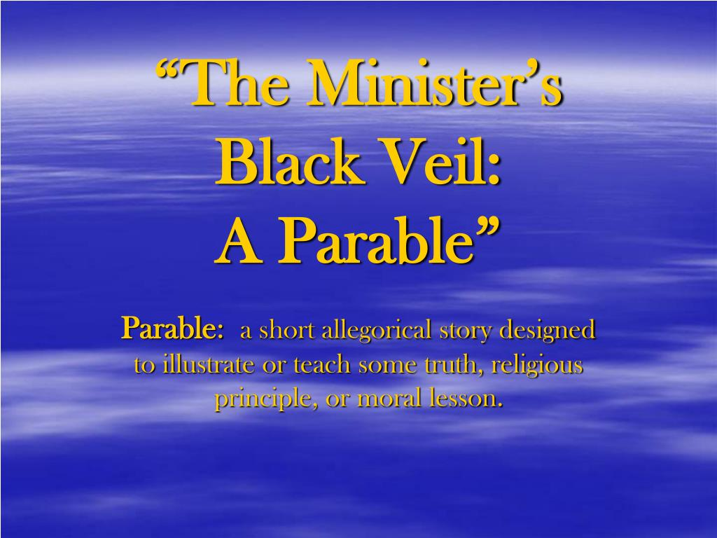 critical essay on the minister black veil