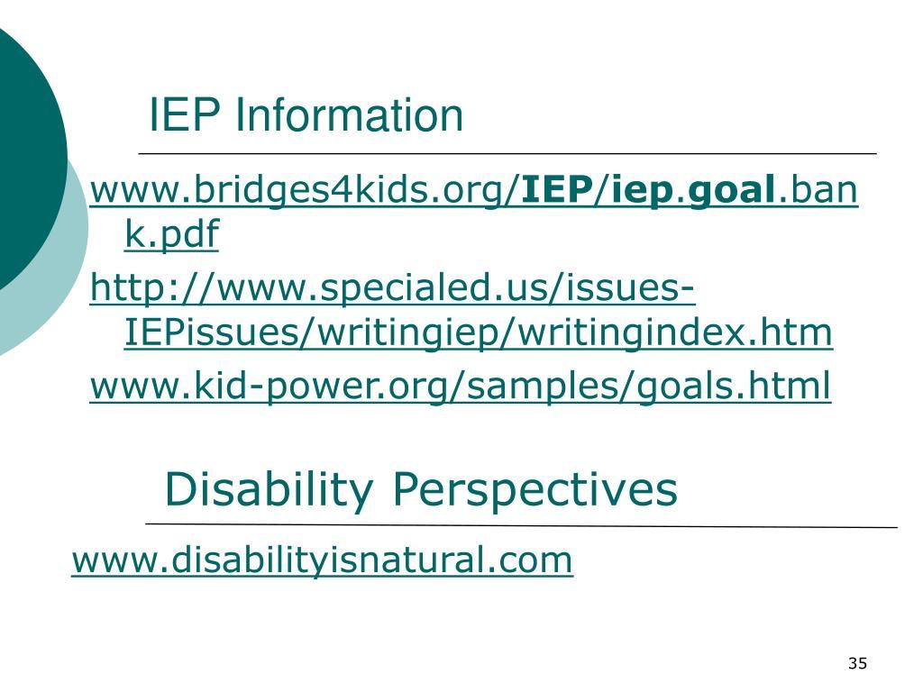 IEP Information
