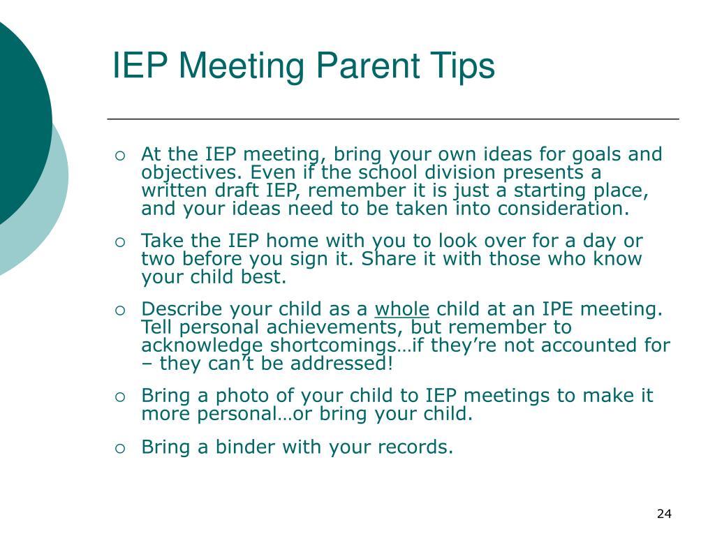IEP Meeting Parent Tips