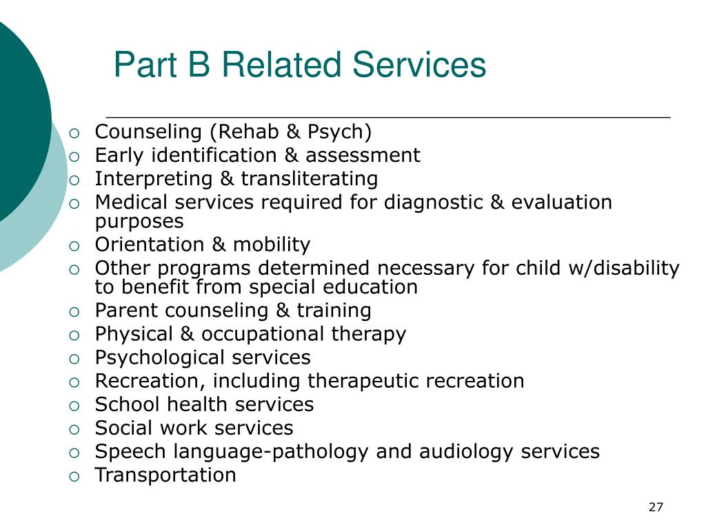 Part B Related Services