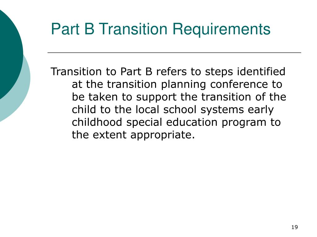 Part B Transition Requirements