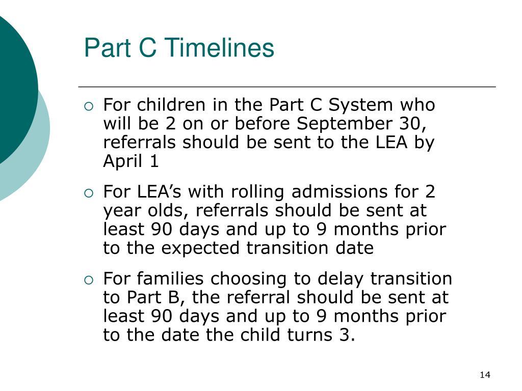 Part C Timelines